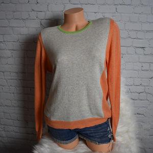 Orvis Colorblock Crewneck Pullover Sweater